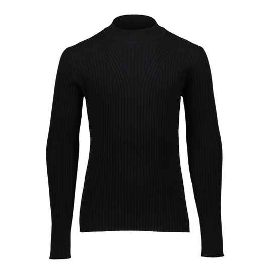 KNITTED TOP TURTLE BLACK