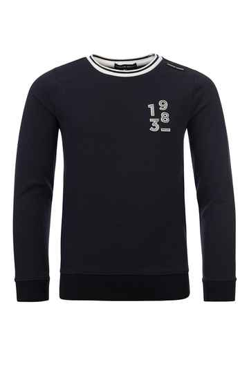 NAVY SWEATER RELIËF
