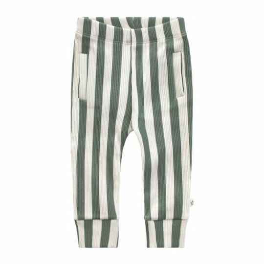 BOLD STRIPES FITTED PANTS