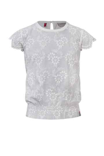 BLOUSE WIT BRODERIE ANGLAISE