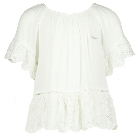 BLOUSE / TOP LEVINA REAL WHITE