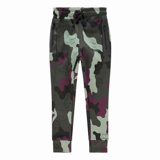 SWEATPANTS SEATTLE CAMOUFLAGE GREEN