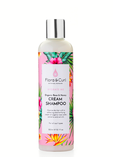 Flora & Curl Organic Rose & Honey Cream Shampoo