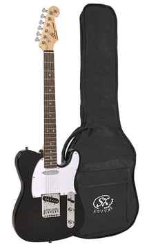 SX Guitars ED2BK Black Telecaster Model