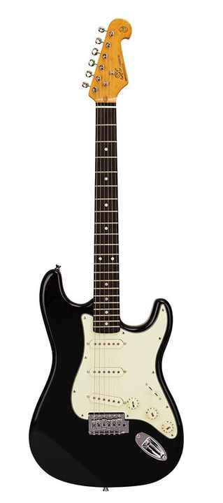 SX Guitars SST62BK Stratocaster Model Black