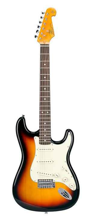SX Guitars SST623TS Stratocaster Model Sunburst