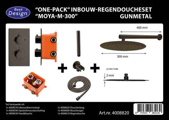 "Best-Design ""One-Pack"" inbouw-regendoucheset ""Moya-M-300"""
