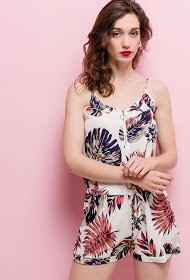 Jumpsuit Tropical Print