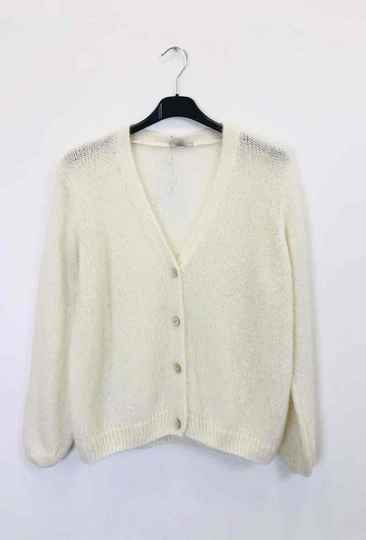 Gilet Mohair Wit