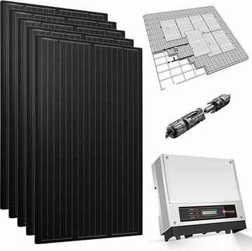 4 zonnepanelen 360 Wp mono all-black pakket