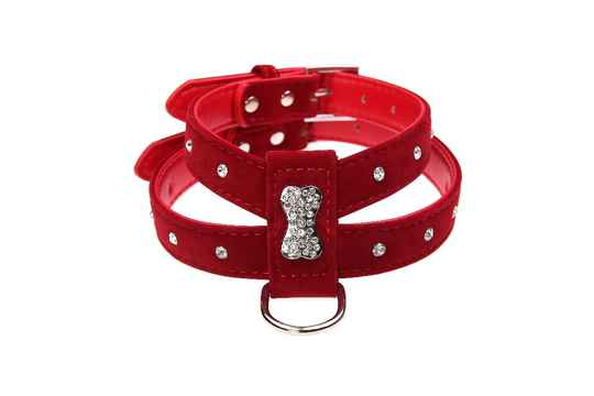 ARTIFICIEEL LEDER HARNAS BIG STRASS BONE ROOD
