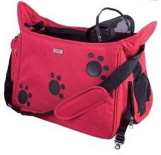 Draagtas Traveler Paws Red