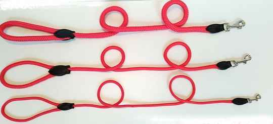 Leiband nylon rond rood
