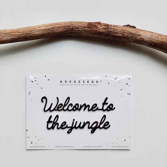 Goegezegd Muursticker - Welcome to the jungle