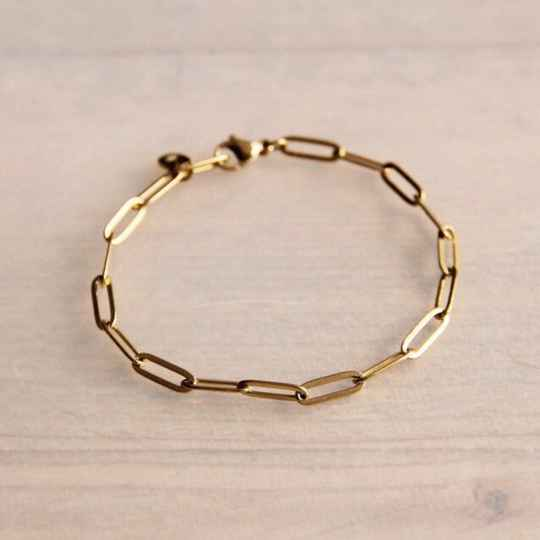 Armband stainless steel chain - gold