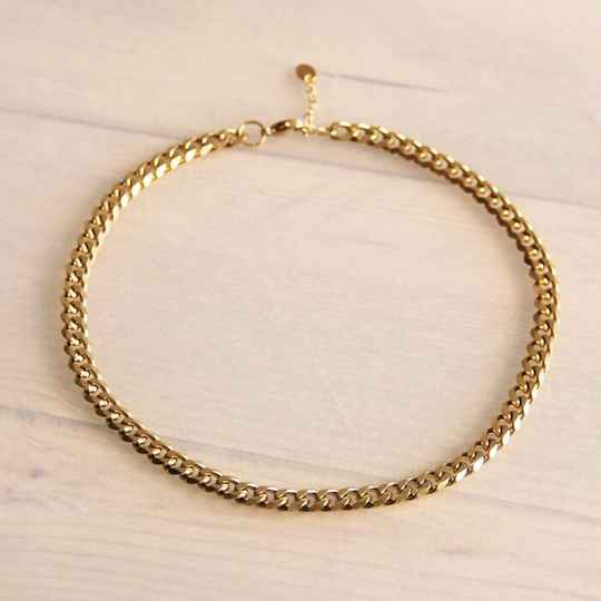 Chain ketting 5mm – goud