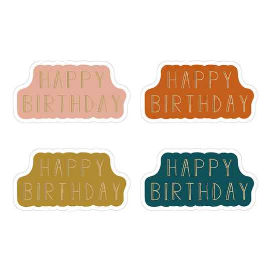 Sticker - 1 x Multi - Happy Birthday