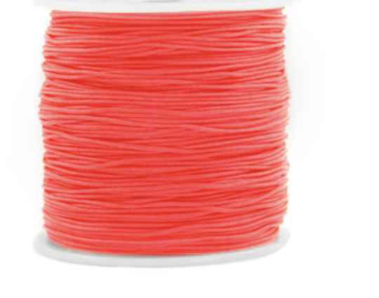 Macramé draad 0,8 mm living coral red.
