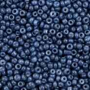 2mm rocailles  Navy Peony Blue