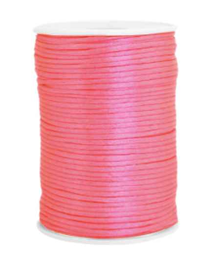 Satijn Koord 2,5mm Fluor pink