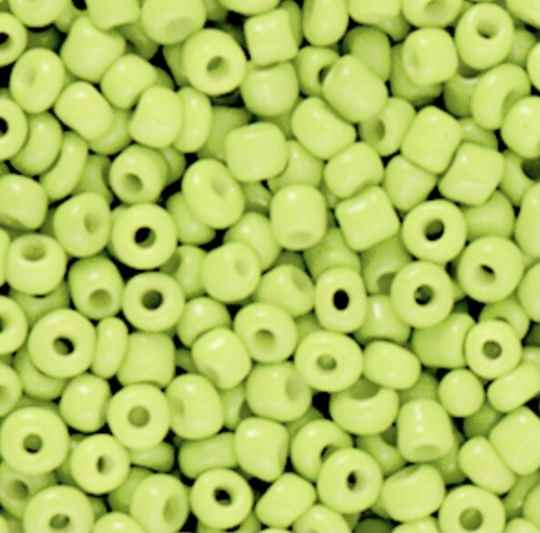 Rocailles 8/0 (3mm) Lime green