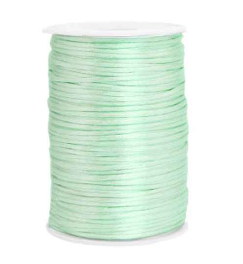 Satijn koord 2,5mm Neo mint Green