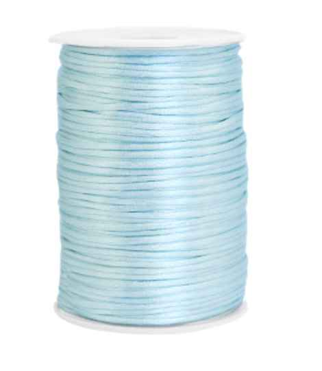 Satijn koord 2,5mm Ice Blue