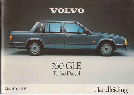 Manual - 1985 - Volvo 760 GLE TURBO DIESEL #055