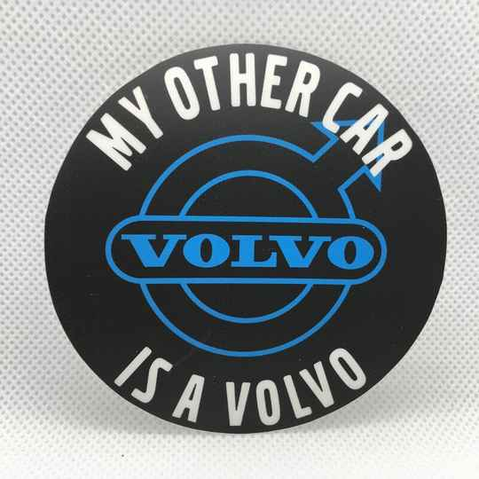 Logosticker: My other car, rond