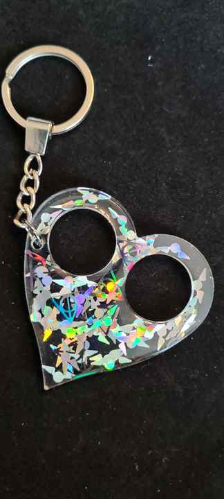Heart Keychain Clear Snitch & Deadly Hallows Holographic
