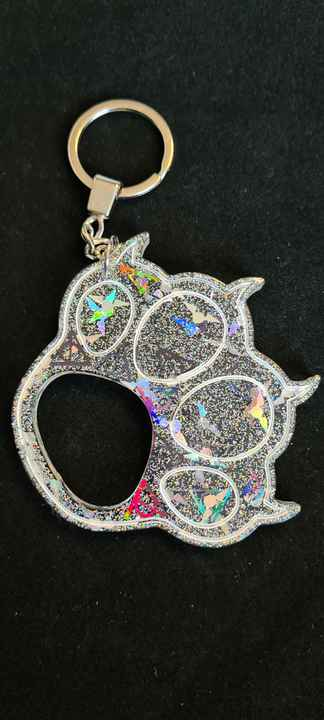 Big Paw Keychain Snitch & Deadly Hallows Holographic