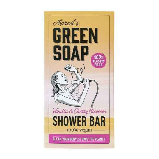 Marcel's Green Soap Shower Bar Vanilla & Cherry blossom
