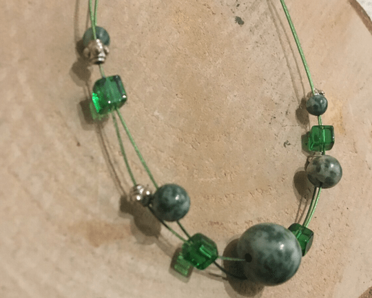 Gemstone Armbandje Groen Agaat