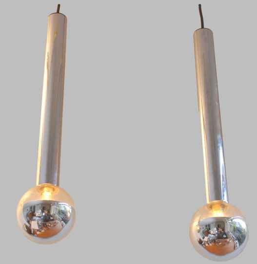 Staff cylinder lights by Motoko Ishii, two available