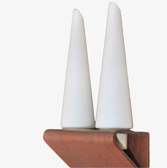 double plywood wall light 1960ies