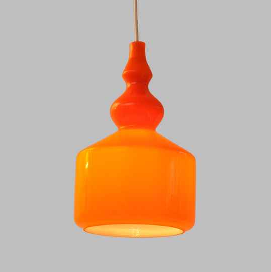 seventies cased glass hanging lamp