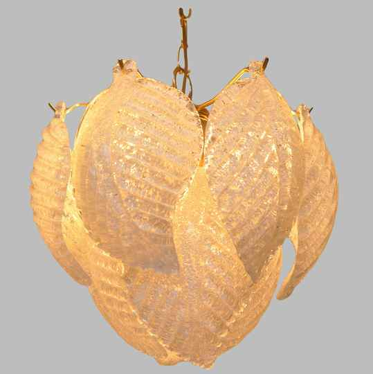 Murano glass leaf hanging light