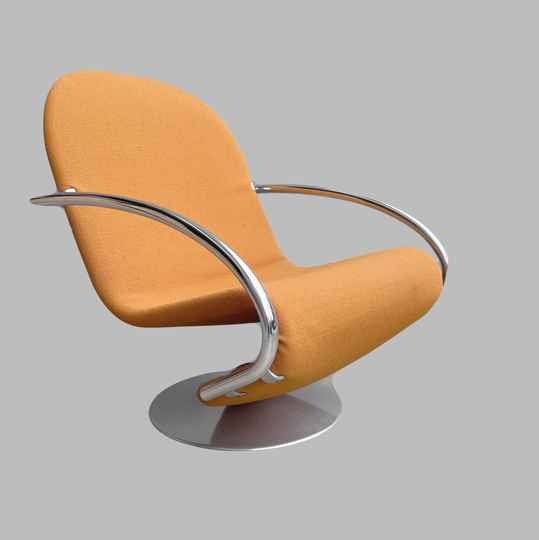 Verner Panton first edition 1-2-3 easy chair, original fabric, two available