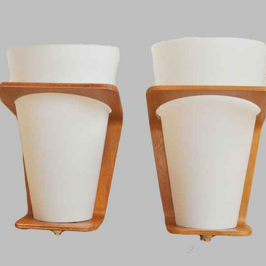 Philips NX41 plywood lamp by Louis Kalff, 6 available