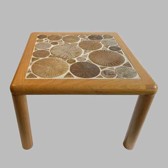 ceramic art coffee table by Tue Poulsen for Haslev for Olivier