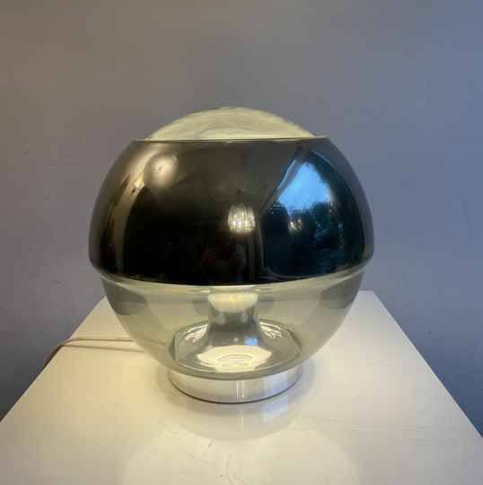 Peill and Putzler clear and mirror glass table lamp