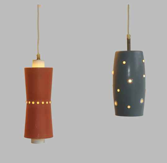 two german 50ies hanging lamps
