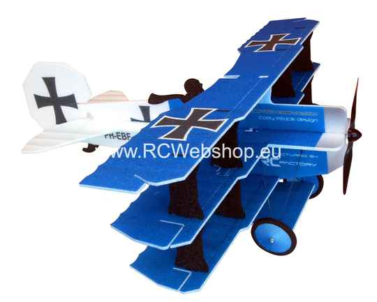 RC Factory  Crack Fokker Dr. I Tri-plane L10 Blue 890mm span EPP kit *
