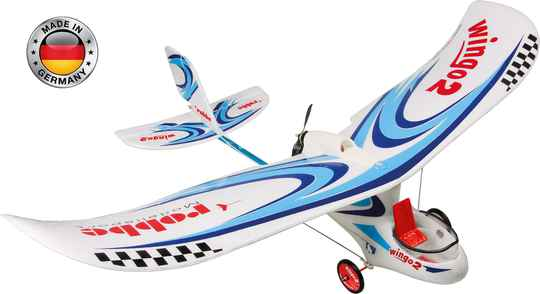 "Robbe Beginner WINGO 2 KIT ""YOU CAN FLY"" +BL motor+ESC+SERVOS 1.100mm Span #2656 *"