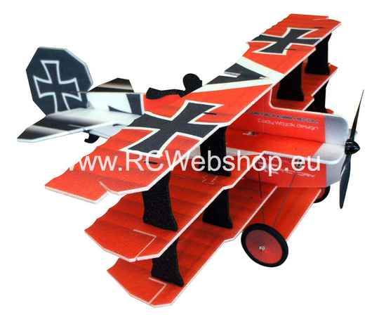 RC Factory  Crack Fokker Dr. I Tri-plane L11 Red/Yellow 890mm span EPP kit *