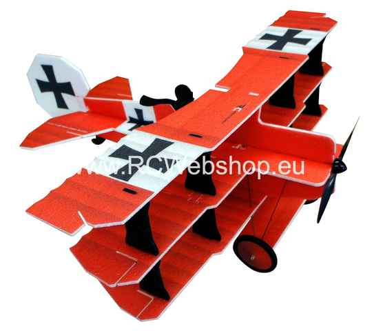 RC Factory  Crack Fokker Dr. I Tri-plane L12 Red Baron 890mm span EPP kit *