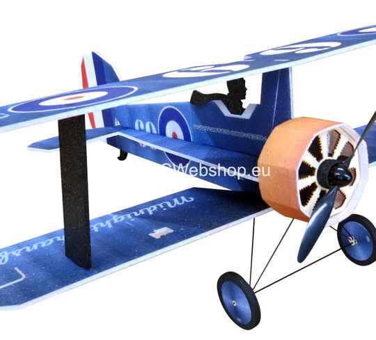 RC-Factory Crack Camel L14 Blue 875mm span Bi-plane EPP kit *
