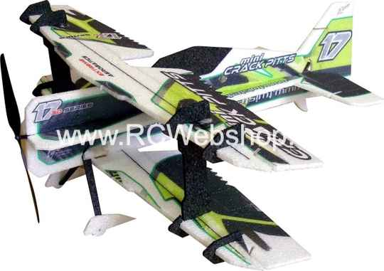RC Factory Crack Pitts (mini) M02 Green 560mm span EPP kit *