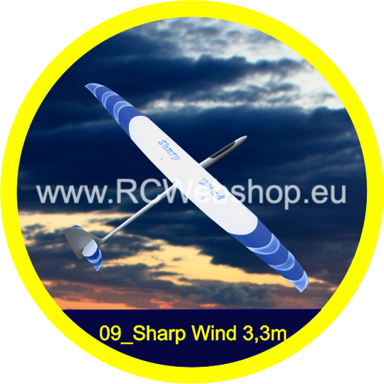 Valenta #09 Sharp Wind 3.300mm Span Sports Glider F5J *