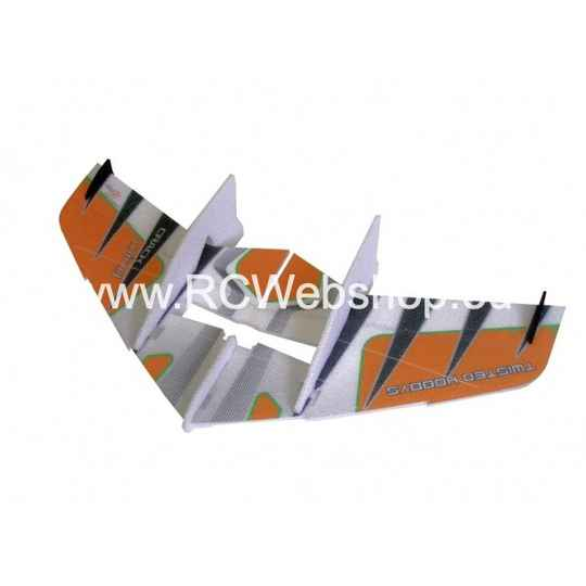 RC-Factory Crack Wing F05 Orange 750mm span EPP kit **